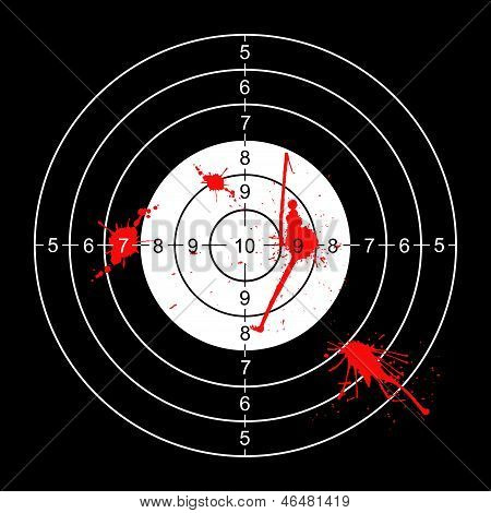 Bloody Wall Target