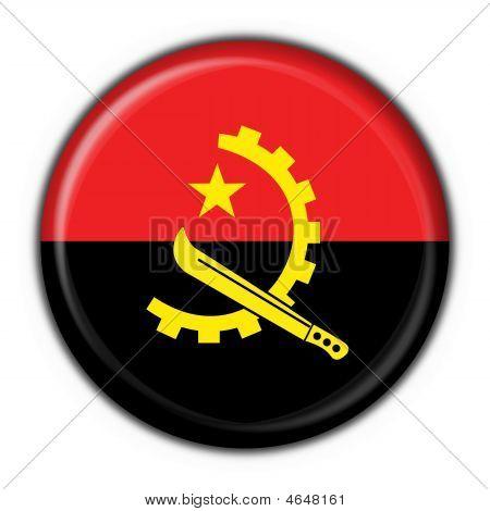 Angola Button Flag Round Shape