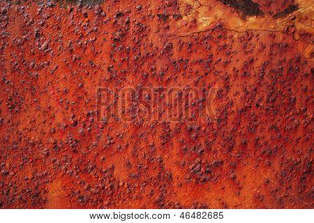 Detail of rusty metal, showing rust textures