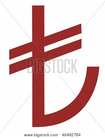 turkish lira sign, vector