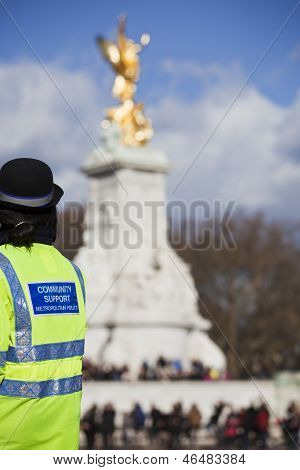Comunity Support Police Officer On Duty