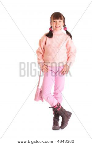 Girl In Pink Clothing