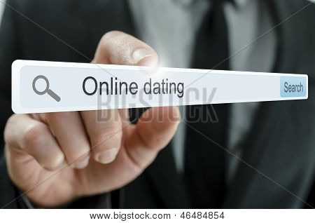 Online Dating Written In Search Bar