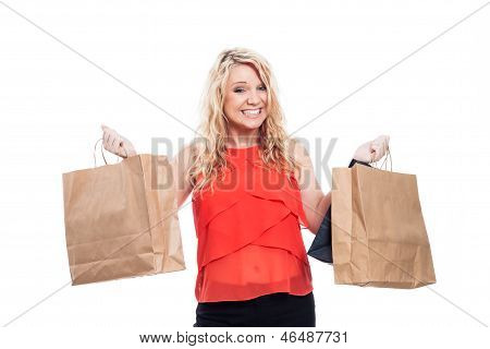 Ecstatic Girl Shopping