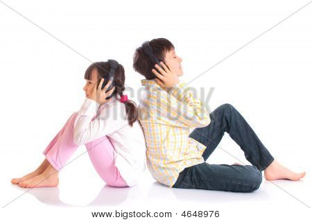 Siblings Listening To Music