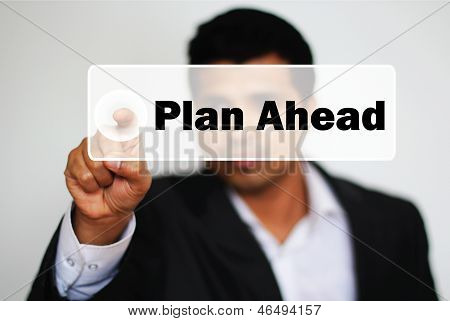 Male Professional Choosing To Plan Ahead