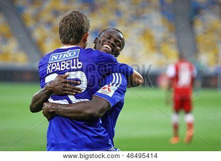 Artem Kravets And Taye Taiwo Of Dynamo Kyiv