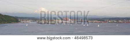 Sailboat Regatta Commencement Bay Puget Sound Downtown Port Tacoma Washington