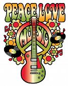 Peace Love And Music_Green-Red