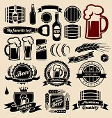 stock photo of alcoholic beverage  - Beer icons - JPG
