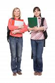foto of bagpack  - photo of casual students isolated over white background - JPG
