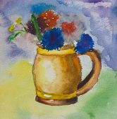 Aquarelle Colorful Bouquet