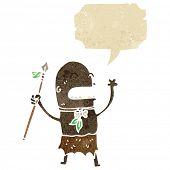 Постер, плакат: Ретро Мультфильм племенной человек