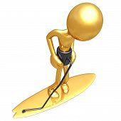 Surfboard Lifeline Leash poster