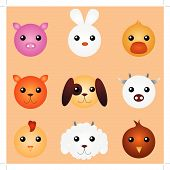 Cute Cartoon Animals poster