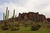 stock photo of superstition mountains  - The cliffs of Arizona - JPG