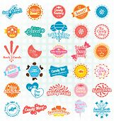 stock photo of candy cotton  - Collection of retro candy and sweets labels - JPG