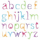 stock photo of cursive  - Hand Drawn Alphabet  - JPG