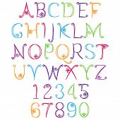 stock photo of hand alphabet  - Hand Drawn Alphabet  - JPG