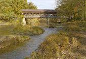 foto of trestle bridge  - Covered bridges in Northeast Ohio Counties - JPG