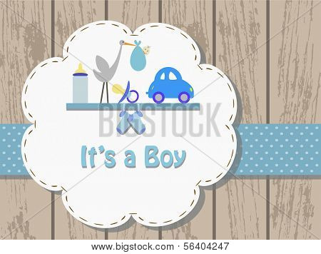 Baby Boy, Invitation card