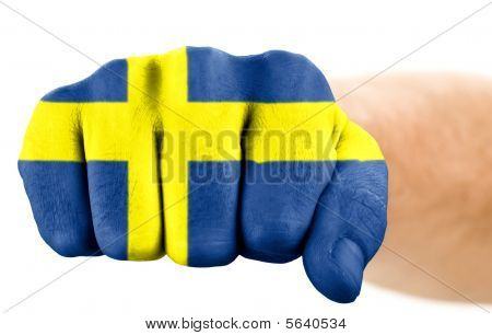 Fist With Swedish Flag