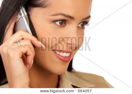 Business Woman With Phone.