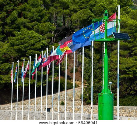 Country flags in Croatia, Rab City
