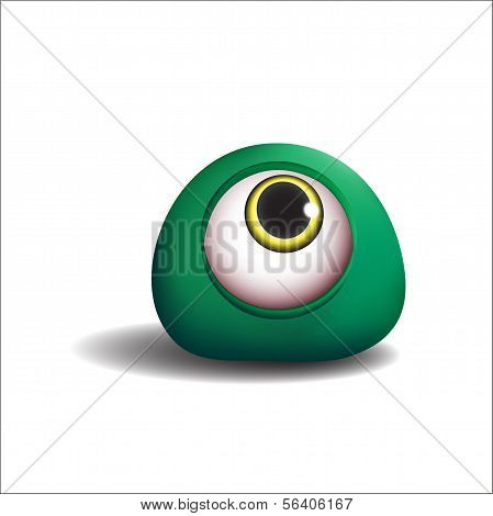 3d. Green eye-monster