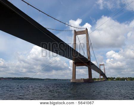 Lillebaelt Little Belt Denmark Suspended Bridge