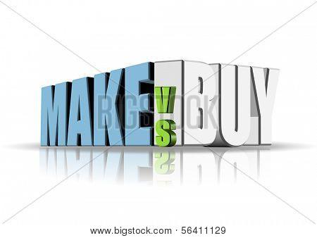 An illustration of make versus buy concept