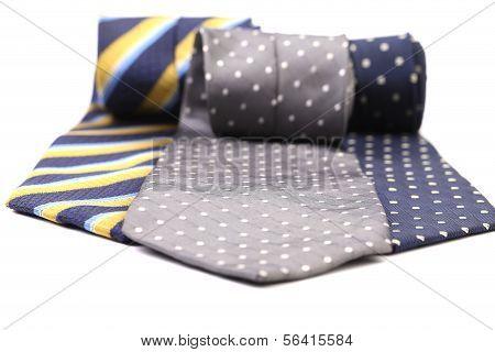 Three multi-colored tie.