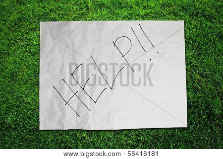 Paper Help On Green Grass Field