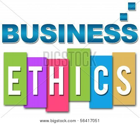 Business Ethics Professional Colourful