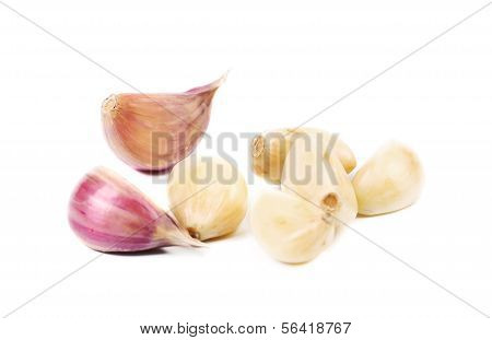 Cloves of garlic.