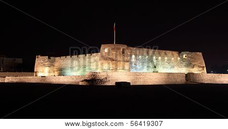Arad Fort At Night. Bahrain