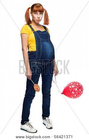 youth teen girl pregnancy over white background