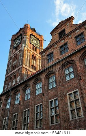 Gothic Tower Of Town Hall In Torun, Poland