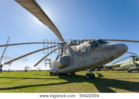 "Togliatti, Russia - May 2, 2013: The Heavy Russian Military Transport Helicopter Mi-26 ""halo""  In To"