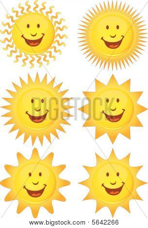 smiling sun set