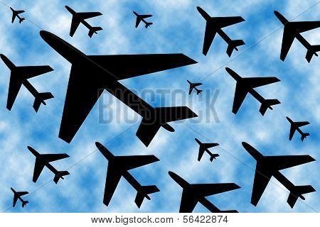 black airplanes