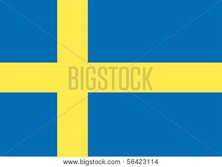 Sweden Flag themes idea design in Vector illustration