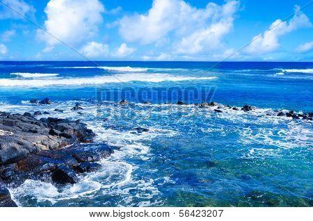 Tropical Landscape In Hawaii, Kauai