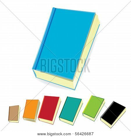 stack of books. vector illustration.
