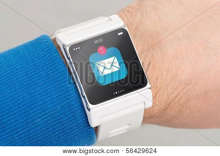 Close Up White Smart Watch