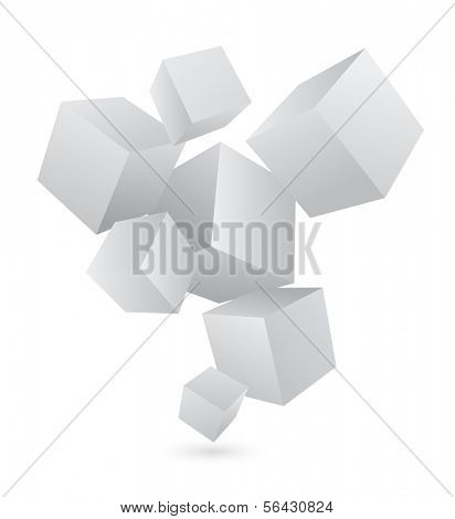 business abstract background with 3d cubes