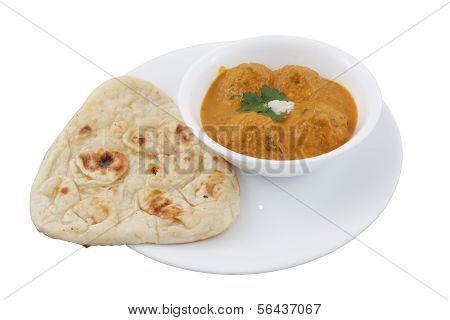 malai kofta with naan