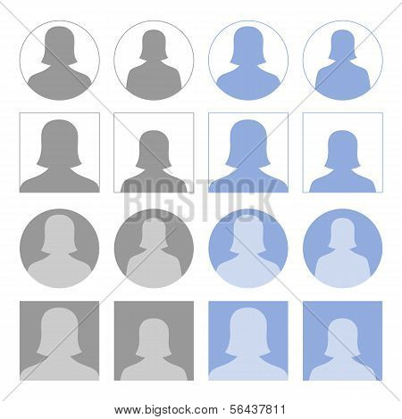 Female Profile Icons