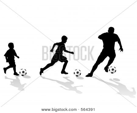 Soccer Generation Silhouette