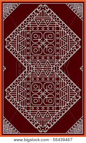 Folk Motif Design wall painting